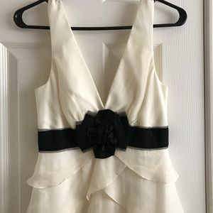 BCBG Off White Long Gown size 0 New